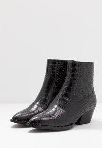 ALDO - AGROACIA - Cowboy/biker ankle boot - black - 4