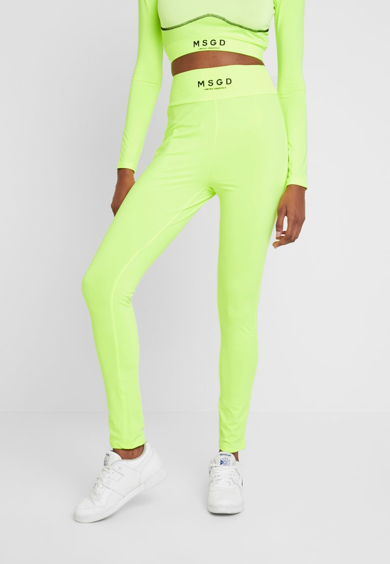 Missguided Tall - WAISTBAND - Leggings - lime