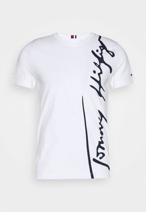 COOL SIGNATURE TEE - Printtipaita - white
