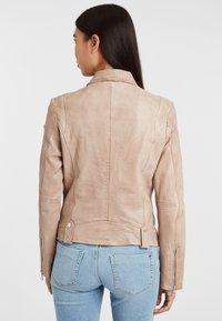 Gipsy - Leather jacket - ivo:ivory - 2