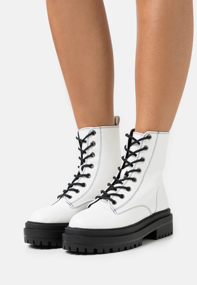RAID - OBEY - Lace-up ankle boots - white