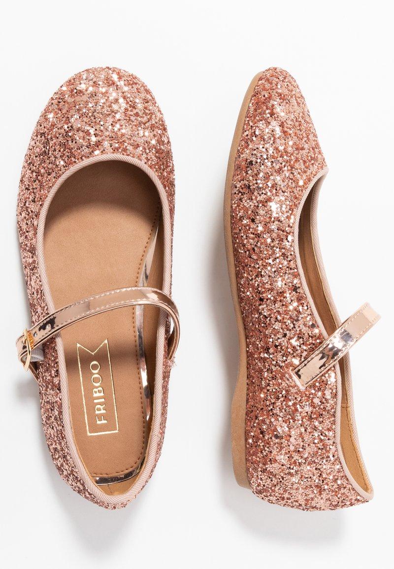 Friboo - Ballerina's met enkelbandjes - pink