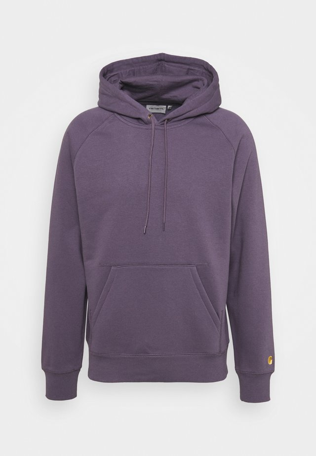 HOODED CHASE  - Sweat à capuche - provence/gold