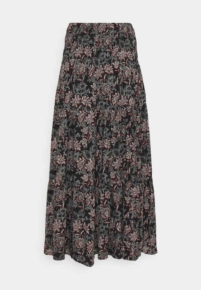 LONG SKIRT - Maxi skirt - black mix
