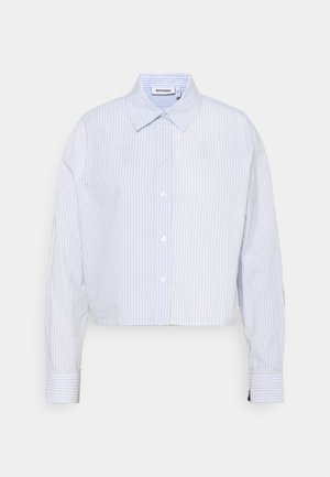 GWEN  - Button-down blouse - blue/white