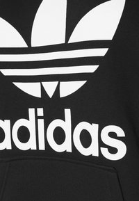 adidas Originals - TREFOIL HOODIE ADICOLOR HOODED - Huppari - black/white - 2