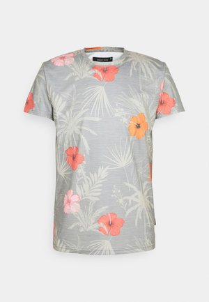 CADIZ BRILIANT - Print T-shirt - light grey