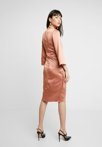 Closet - PLEATED WRAP DRESS - Day dress - rose gold - 3