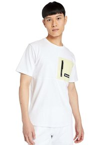 Timberland - Print T-shirt - white/luminary green - 0