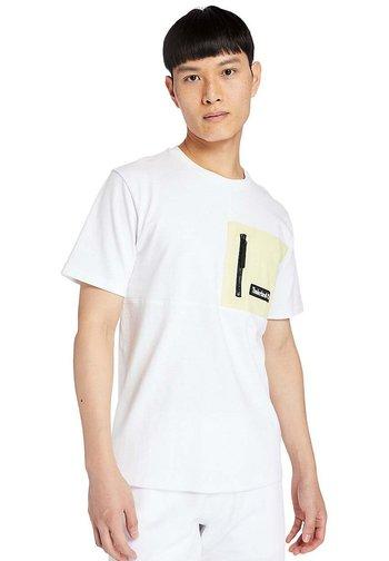 Print T-shirt - white/luminary green