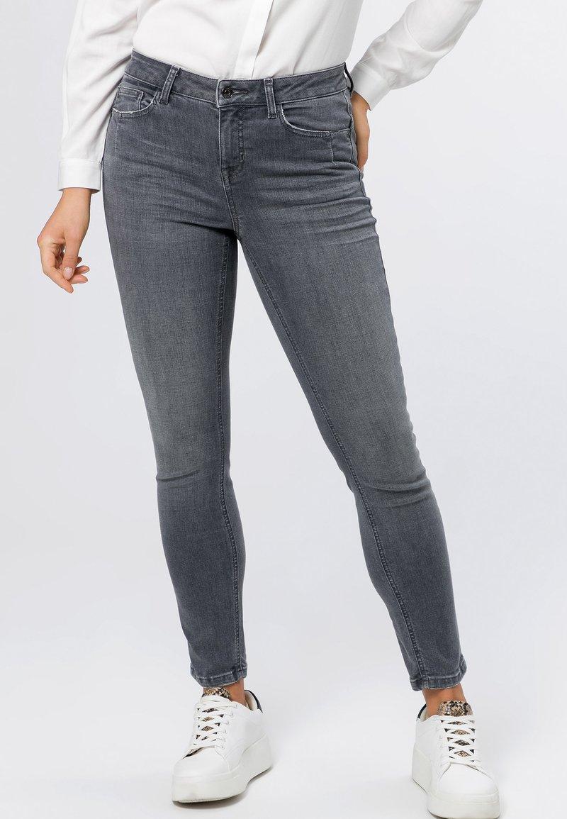 zero - Jeans Skinny Fit - grey soft wash