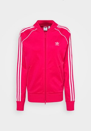 TRACKTOP - Training jacket - power pink/white