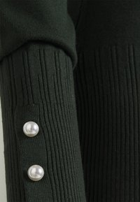 Dorothy Perkins Tall - PEARL BUTTON CUFF ROLL NECK - Jumper - green - 2