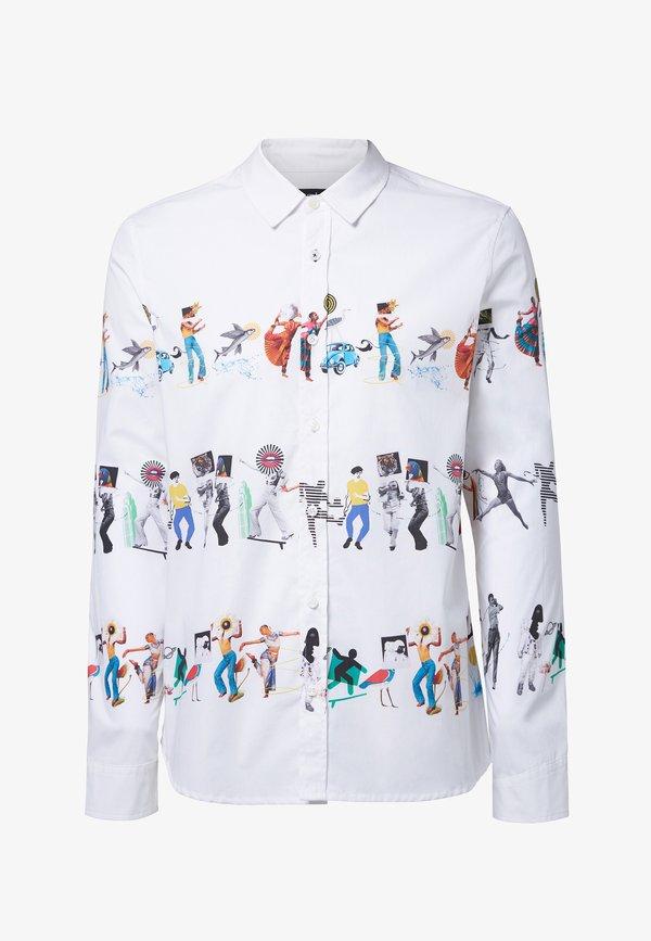 Desigual ABEL - Koszula - white/biały Odzież Męska FDBN