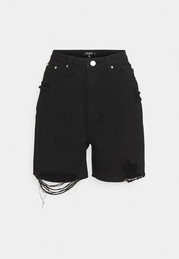 DISTRESS - Shorts di jeans - black