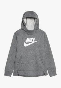 Nike Sportswear - Mikina skapucí - carbon heather/white - 0