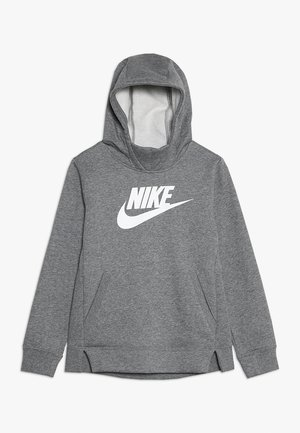 Hoodie - carbon heather/white