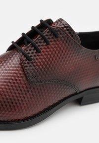 Bugatti - LUANO - Lace-ups - dark red - 5