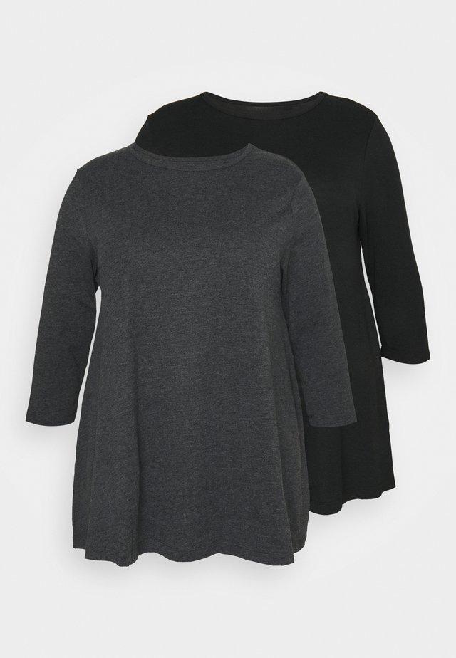 SWING TUNICS 2 PACK - Print T-shirt - black