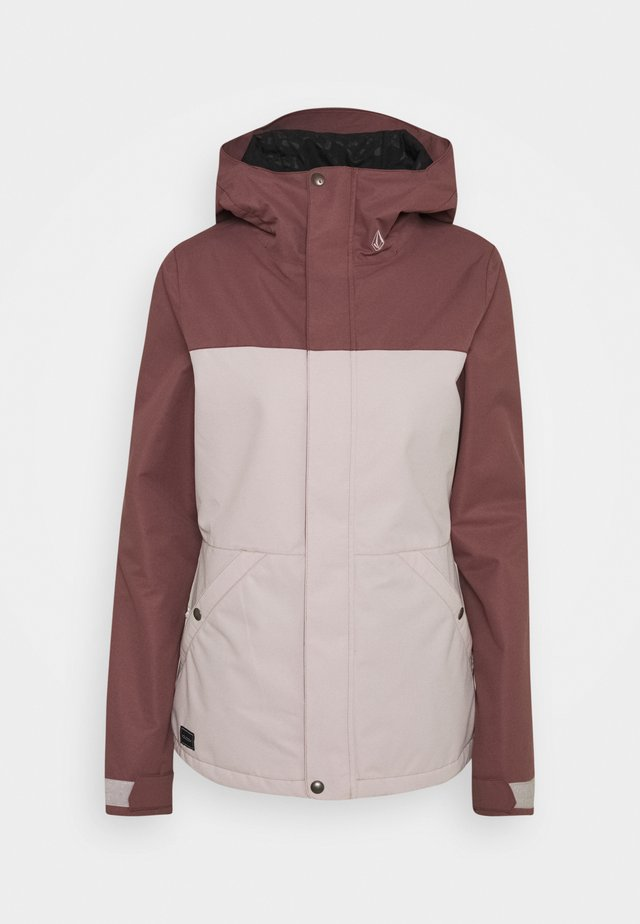 BOLT INS JACKET - Snowboardová bunda - faded pink