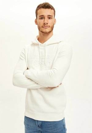 SLIM FIT - Sweat à capuche - ecru