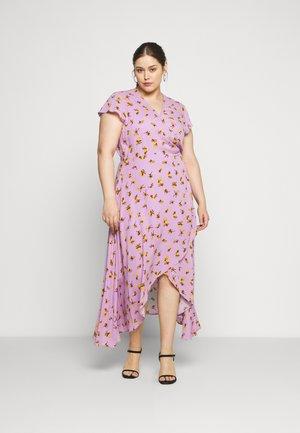 FLORAL WRAP DRESS - Day dress - purple
