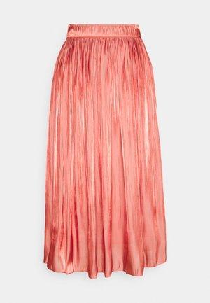 Plisovaná sukně - terracotta