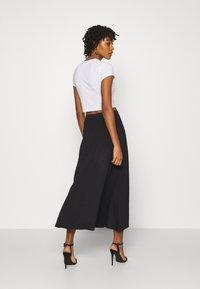 Even&Odd - Basic maxi skirt - A-line skjørt - black - 2