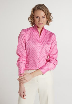 Button-down blouse - pink weiss