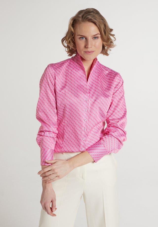 Overhemdblouse - pink weiss