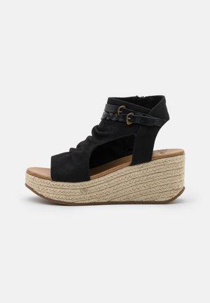 LACEY4EARTH - Sandalen met enkelbandjes - black