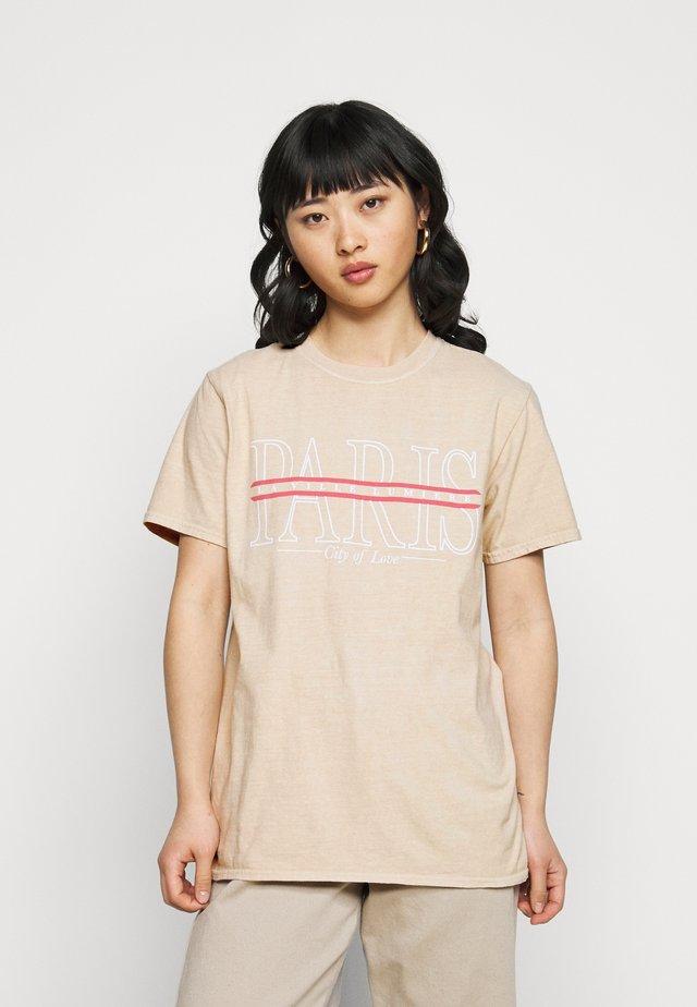 PARIS GRAPHIC - T-shirt imprimé - stone