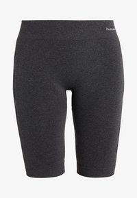 SEAMLESS CYCLING - Sports shorts - black melange