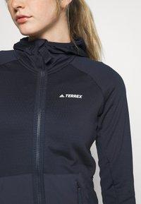 adidas Performance - TERREX TECH LITE HOODED - Fleece jacket - legend ink - 5