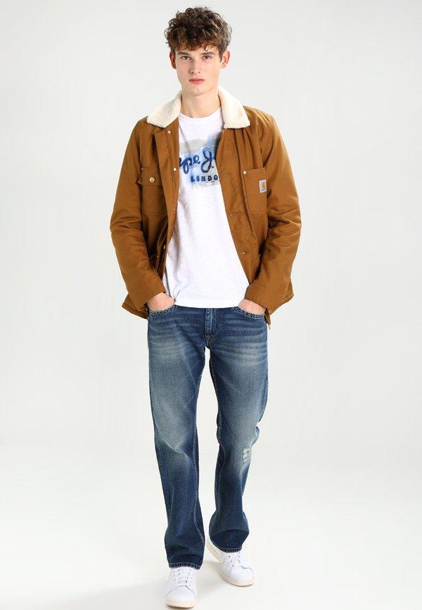 Pepe Jeans GOLDERS - T-shirt z nadrukiem - 802/biały Odzież Męska PTQC