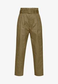 Lost Ink Petite - BELTED PLEAT WAIST PEG TROUSER - Trousers - khaki - 3