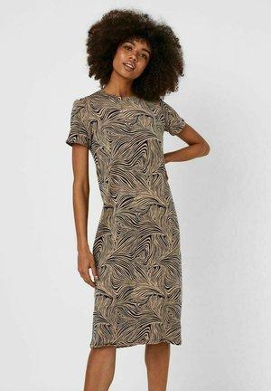 BEDRUCKTES MIDI - Jersey dress - brown