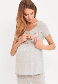 Cool Mama - BAMBOO MATERNITY & NURSING PYJAMA 2 IN 1 BASIC - Pyjama - grey - 3