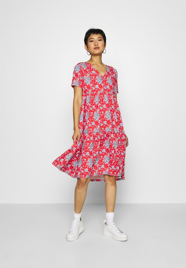 DRESS PRINTED - Robe d'été - summer red