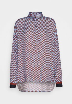 Button-down blouse - brown/bleu