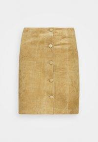 VIUSE SKIRT - Leather skirt - butternut
