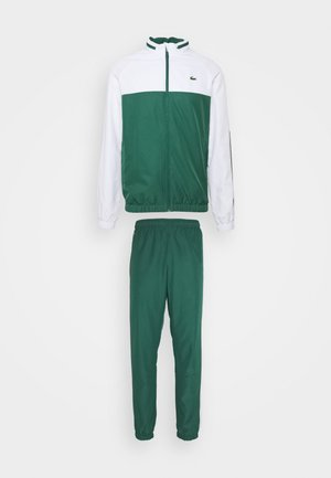 TRACK SUIT - Verryttelypuku - bottle green/white/black