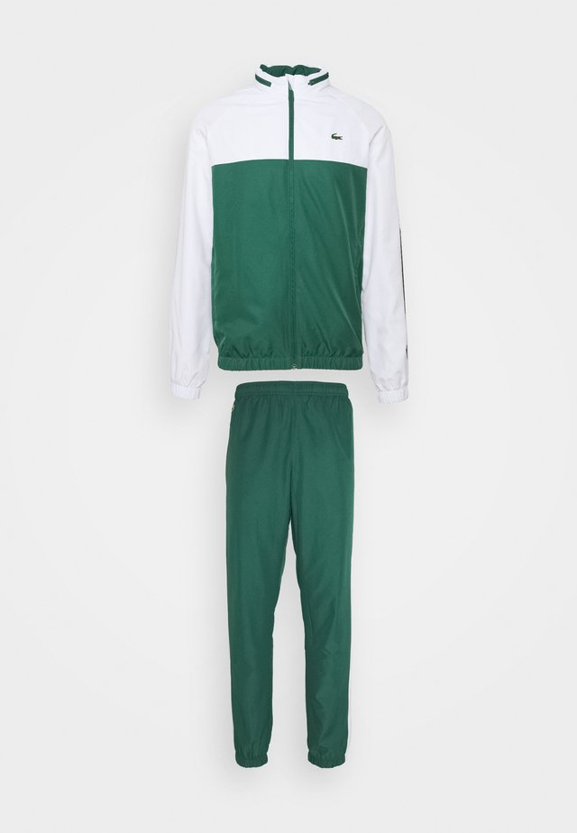 TRACK SUIT - Trainingspak - bottle green/white/black