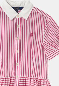 Polo Ralph Lauren - STRIPE - Košilové šaty - pink/white - 2