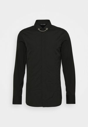 TUXEDO FLAT NECKLAC - Shirt - black
