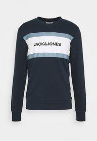 Jack & Jones - JJSHAKE CREW NECK - Sweatshirt - navy blazer - 4