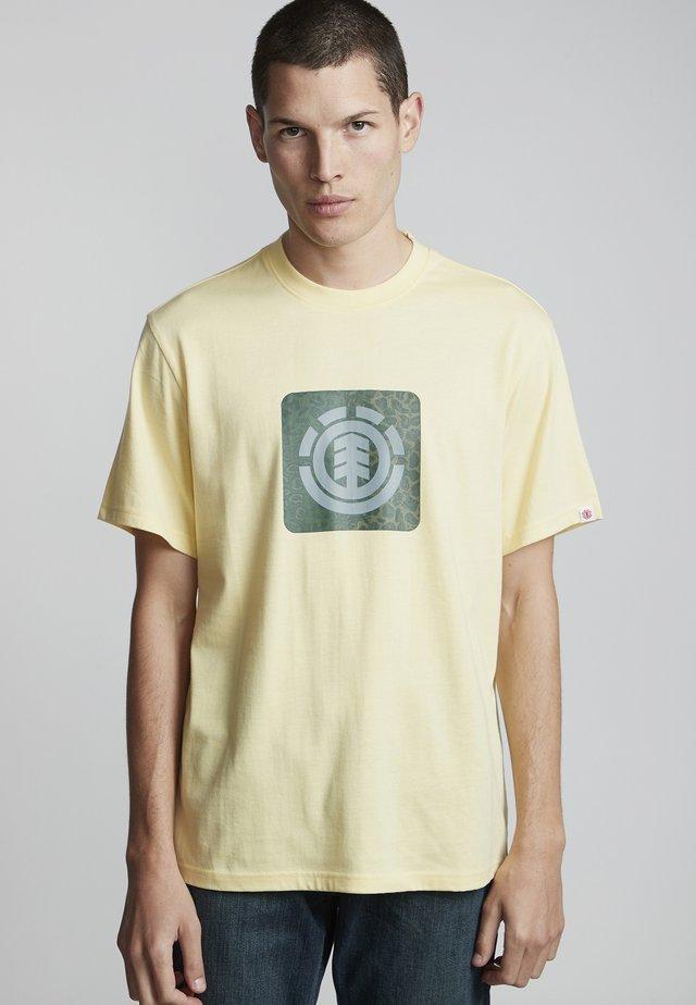 LEOPARD BLOCK ICON - Print T-shirt - popcorn