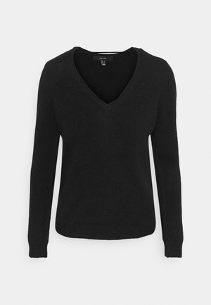 VMSIMONE V-NECK BLOUSE BOO - Jumper - black