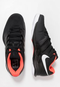 Nike Performance - AIR ZOOM VAPOR X - All court tennisskor - black/white/bright crimson - 1