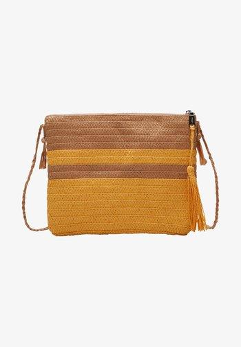 Across body bag - beige stripes